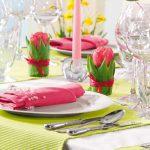 Фото для сервировки стола: розовый тюльпан