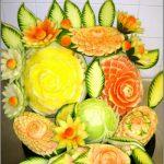 Фото: Цветы из овощей и фруктов