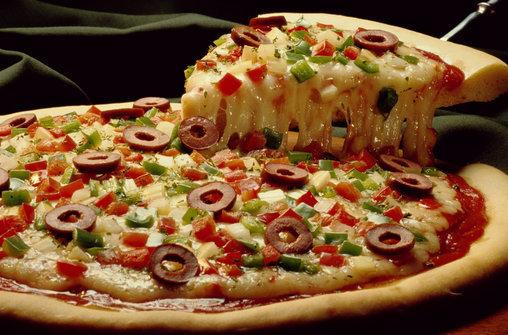 """Пицца """"пиццагра"""" для влюбленных."""