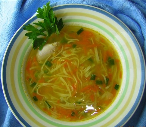 Как варить суп с домашней лапшой с картошкой