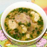 Суп для детей с цветной капустой.