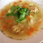 Суп рыбный для детей с крупой.