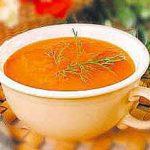 Суп-пюре морковный детский.