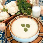 Суп-пюре для детей из цветной капусты.