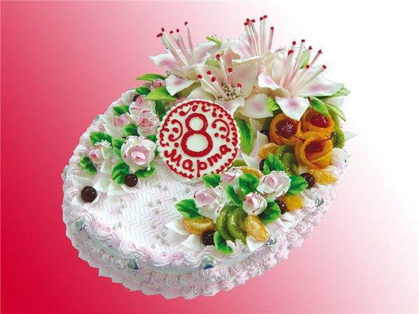 на заказ эксклюзивных тортов - отличный подарок к 8 марта и другим праздникам от компании Iris Delicia!