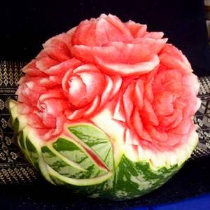 цветы из арбуза
