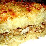 Запеканка картофельная с грибами и сыром