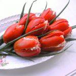 Фото блюда: Тюльпаны на праздничном столе