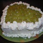 Рецепт творожного торта с виноградом без выпечки
