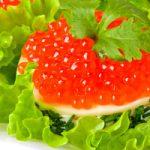 Закуска из лосося и красной икры