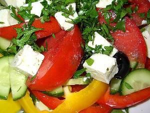 фото рецепт салат греческий с брынзой