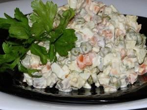 салат оливье с телятиной рецепт
