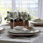Фото сервировки стола к завтраку: колосок