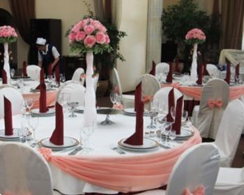 персиково-бордовый декор