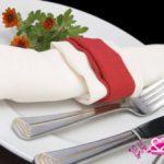 Фото сервировки стола салфетками к завтраку: мужской завтрак
