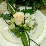 Фото сервировки свадебного стола