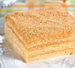 Крем для торта наполеон со сгущенкой