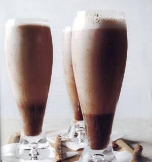 Шоколадный молочный коктейль рецепт с фото