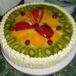 Торт с фруктами в желе