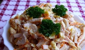 Вкусный рецепт салата из куриной грудки