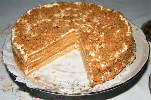 рецепты домашний медовый торт