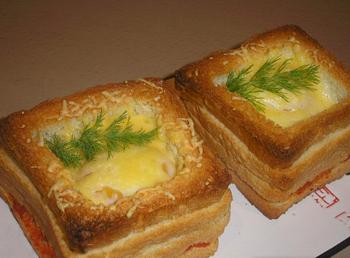 бутерброд с плавленым сыром и колбасой калорийность рецепт
