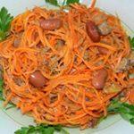 Салат с морковью и фасолью