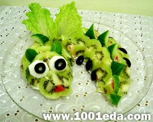 Салат из киви «Дракоша»
