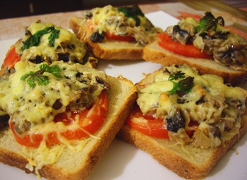 рецепт бутерброда гриб
