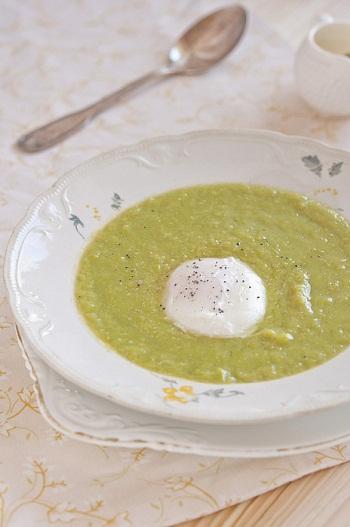 Рецепт картофельного супа-пюре с зеленым горошком