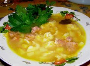 рецепт приготовления Быстрый суп с клецками