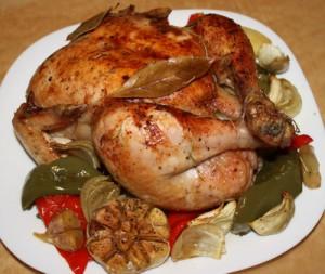 Курица для воскресного обеда – кулинарный рецепт