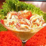 Быстрый салат-коктейль Морское чудо