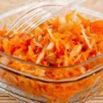 Быстрый салат из тыквы