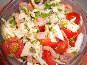 Быстрый салат с моцареллой