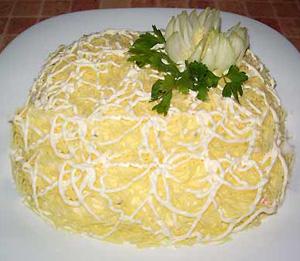 Мужской салат на 23 февраля