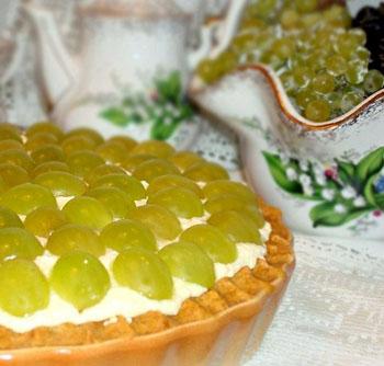 Тарт с творогом и нектаринами – кулинарный рецепт