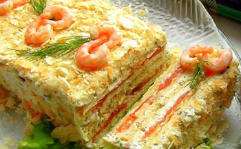 закуска с лососем и сыром