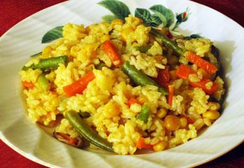 Диетический ужин из риса