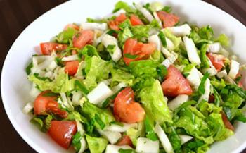 как приготовить диетический салат из овощей