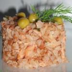 Праздничная гречка с лососиной