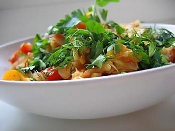 Салат из кальмара с болгарским перцем