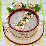 Молочный крем-суп с шампиньонами