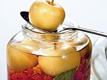 Рецепт  маринованных яблок
