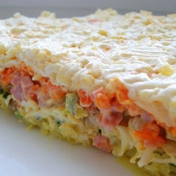 салаты слоёные рецепты с фото простые и вкусные