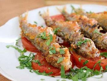 Рецепт рыбки с винным соусом