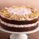 Вишневый торт с миндальным бисквитом