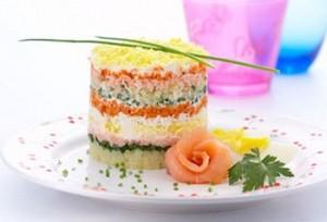 Салат Мимоза с рисом