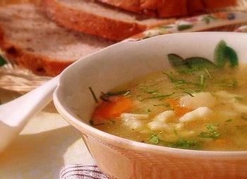 Рецепт супа с клецками и молодым картофелем