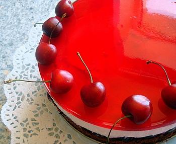 Рецепт торта с желе из черешен